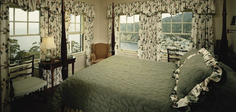 Ruffled pillows and curtains