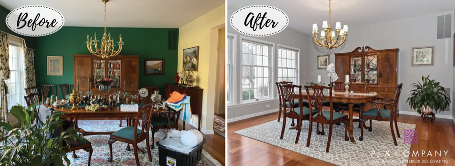Before/After Dining Room