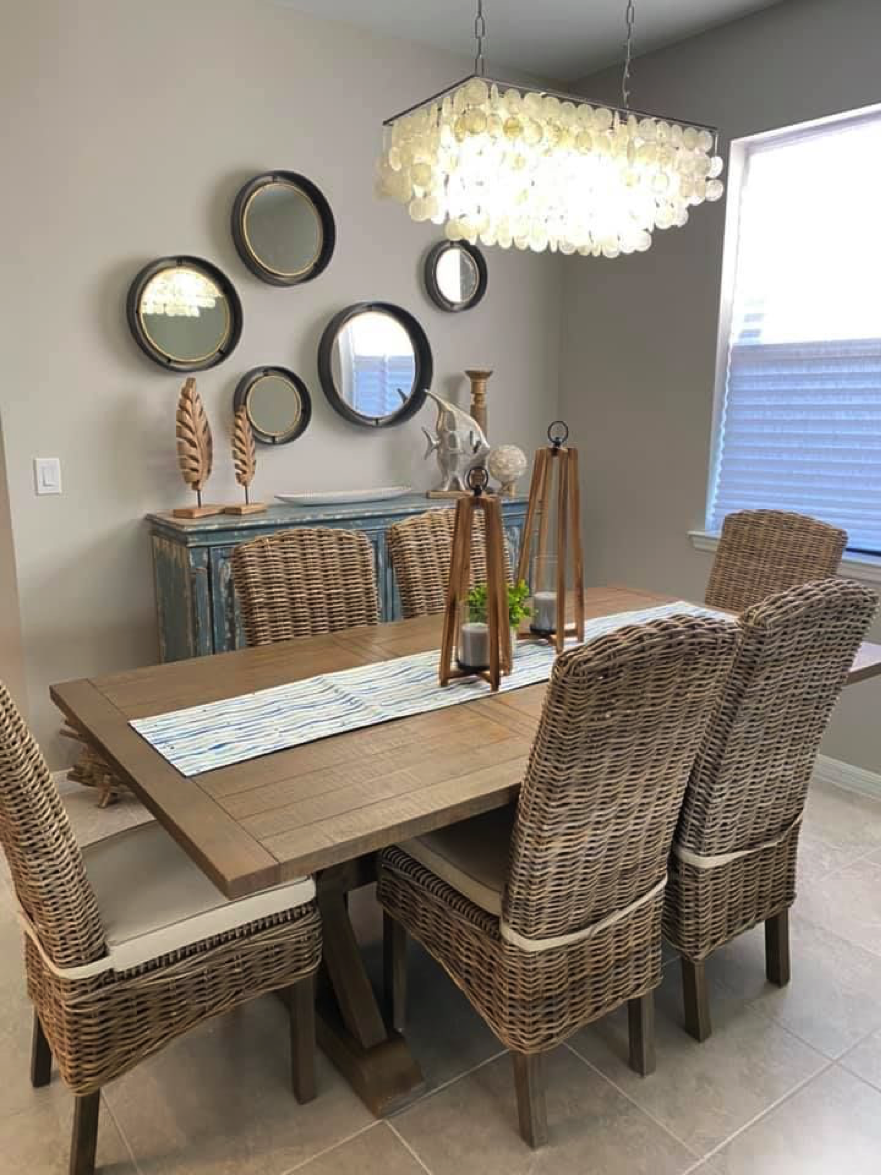 Dining Table & Mirrors