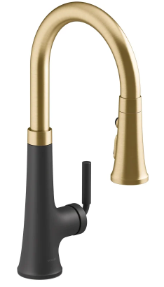 Kohler Gold & Black Faucet