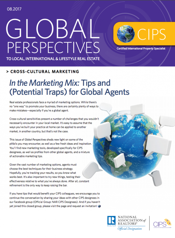 Cover of August 2017 Global Perspectives: Cross-Cultural Marketing