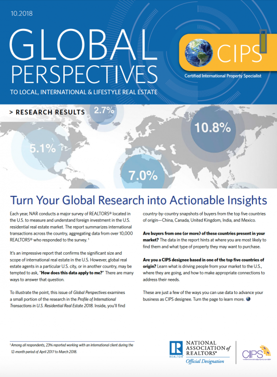 Cover of the October 2018 Global Perspectives: Research Results