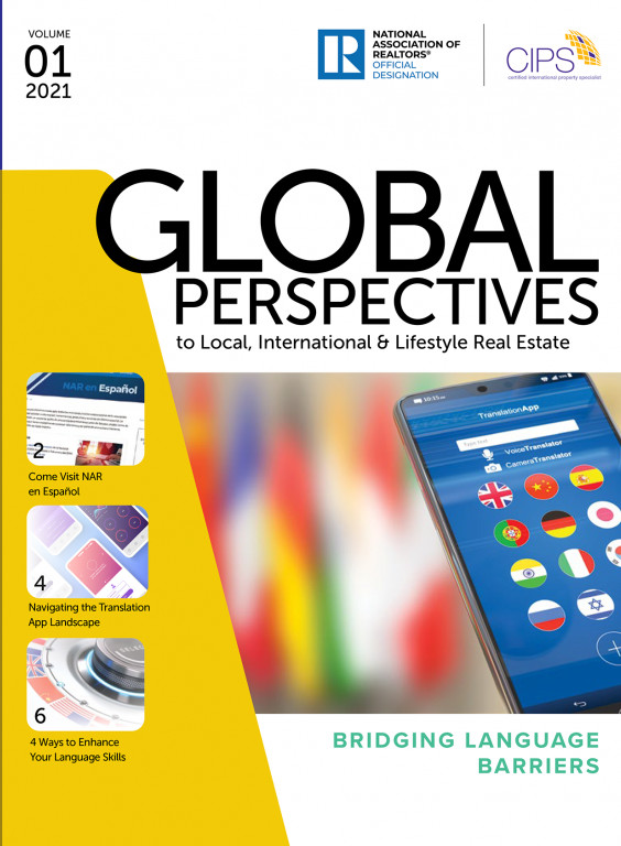 Cover of the 2021 Volume 01 issue of Global Perspectives: Bridging Language Barriers