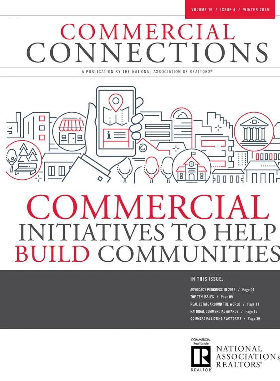 Commercial Connections Winter 2019 edition cover Commercial Initiatives to Help Build Communites