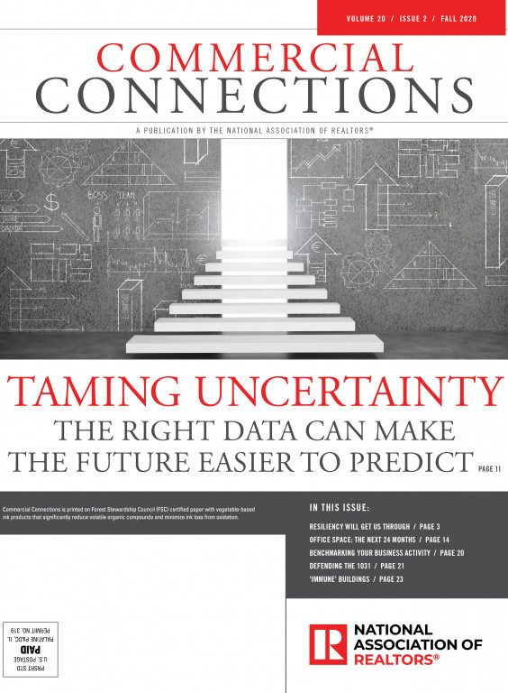 Commercial Connections Taming Uncertainty - Fall 2020 cover