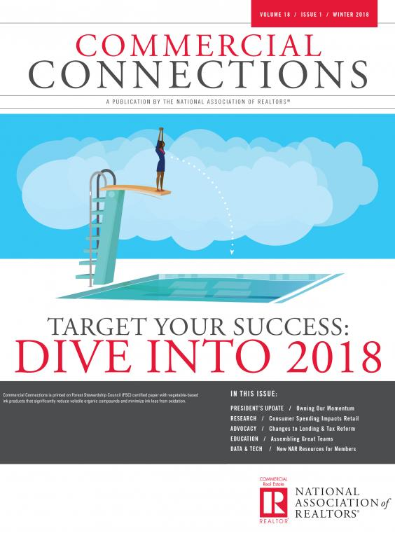 Commercial Connections Cover: Winter 2018: Target Your Success Dive Into 2018