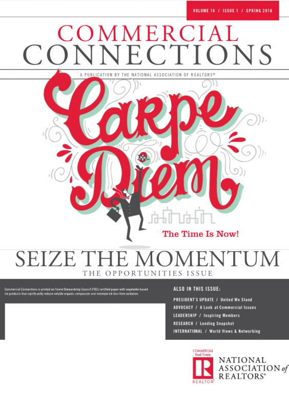 Cover of the 2016 Spring issue of Commercial Connections: Seize the Momentum