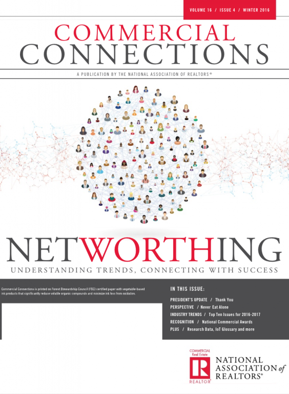 Cover of the 2016 Winter issue of Commercial Connections: Networthing