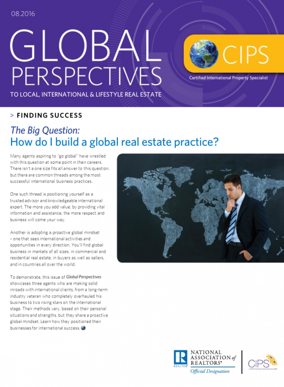 Cover image of the August 2016 issue of Global Perspectives: Finding Success
