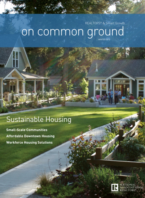 Cover of the 2012 Winter issue of On Common Ground: Sustainable Housing