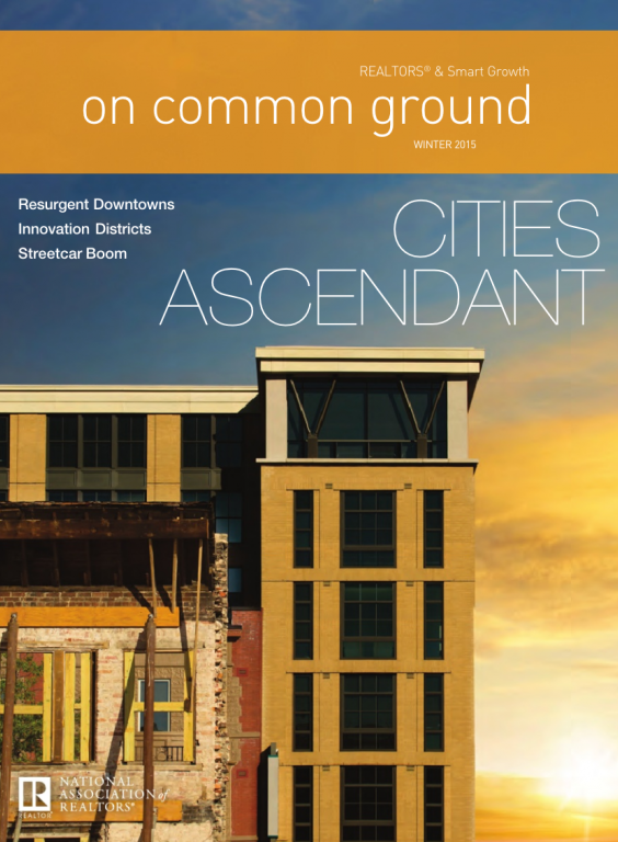 Cover of the 2015 Winter issue of On Common Ground: Cities Ascendant