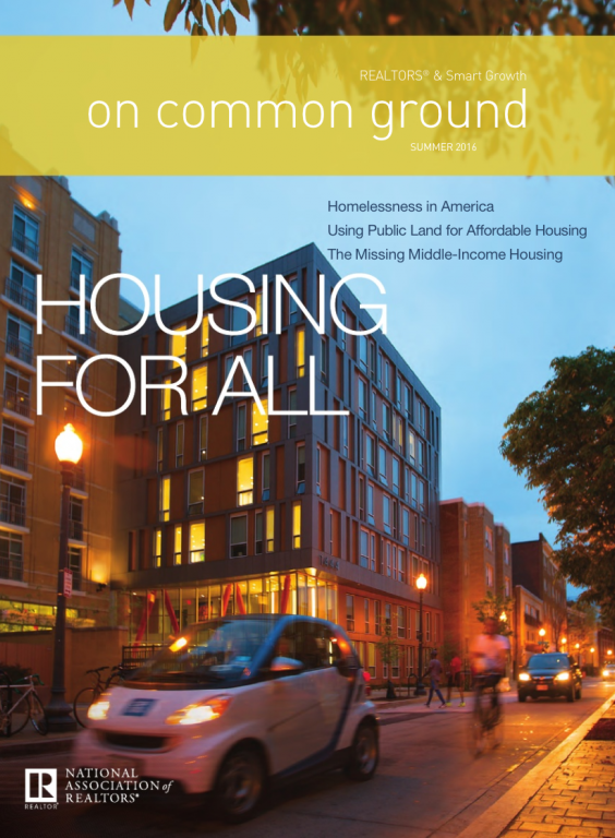 Cover of the 2016 Summer issue of On Common Ground: Housing for All