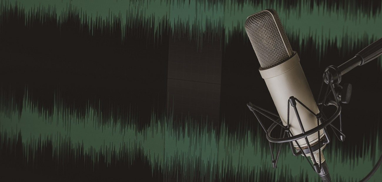 Close Up of Microphone Against Wall