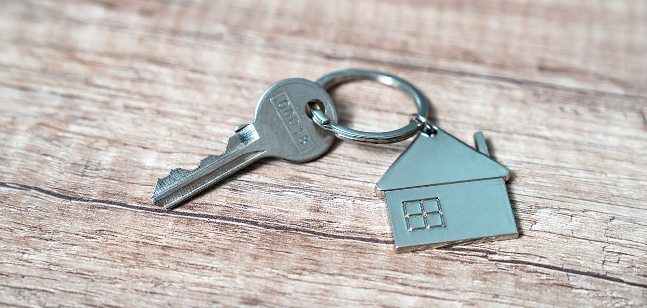 Key With House-shaped Keychain