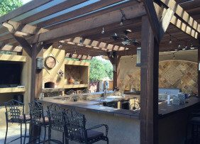 Covered Bar Area and Patio