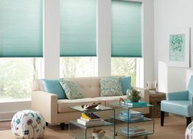 Light Blue Furniture and Blinds