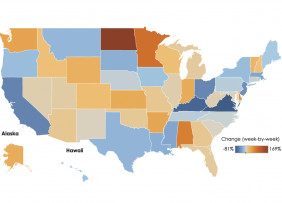 U.S. Map: Tracking Jobless Claims, Week Ending April 10, 2021