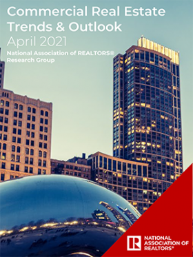 Cover of the April 2021 Commercial Real Estate Trends and Outlook report